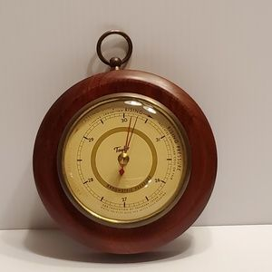 Vintage Taylor barometer with wood frame. 5 ¼""